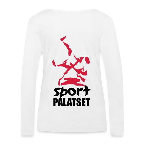 Motiv med svart och röd logga - Ekologisk långärmad T-shirt dam från Stanley & Stella