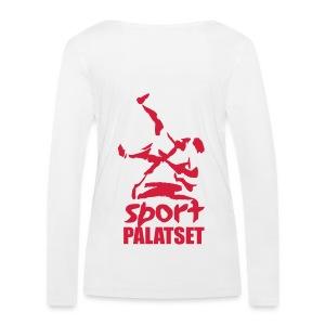 Motiv med röd logga - Ekologisk långärmad T-shirt dam från Stanley & Stella