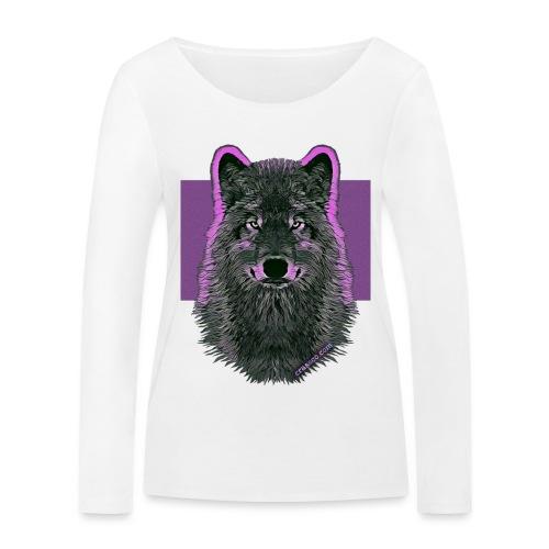 WOLF PINK IN LOVE - Frauen Bio-Langarmshirt von Stanley & Stella