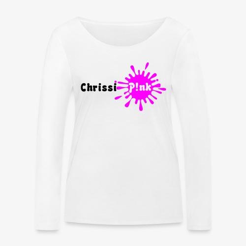 Chrissi Pink Weißes Shirt png - Frauen Bio-Langarmshirt von Stanley & Stella