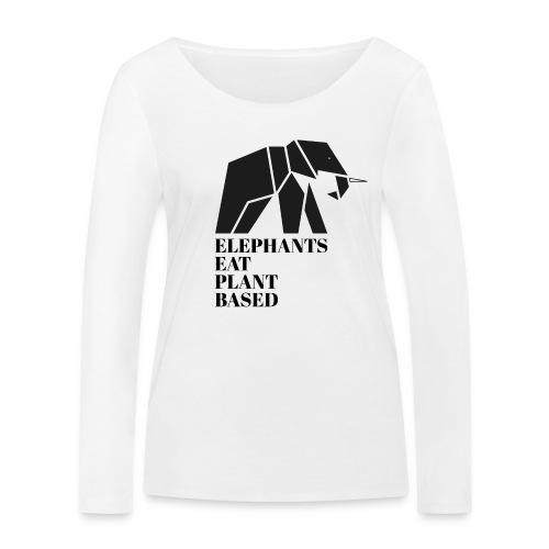 Elefanten sind Pflanzenfresser - Frauen Bio-Langarmshirt von Stanley & Stella