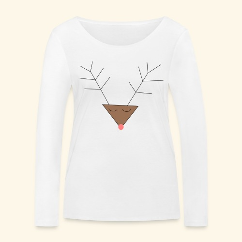 Pink nose reindeer - T-shirt manches longues bio Stanley & Stella Femme