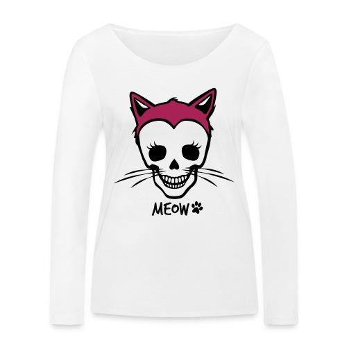 Katzenliebe für immer - Frauen Bio-Langarmshirt von Stanley & Stella