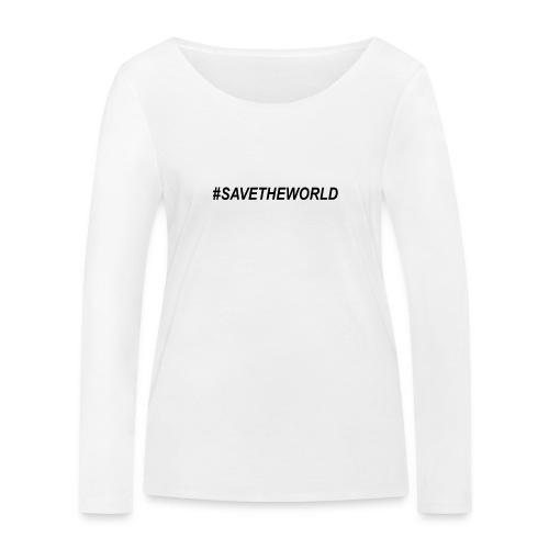 #SaveTheWorld - Ekologisk långärmad T-shirt dam från Stanley & Stella