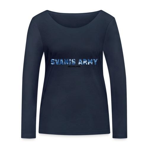 SVANIS ARMY, SWEDISHGAMING - Ekologisk långärmad T-shirt dam från Stanley & Stella