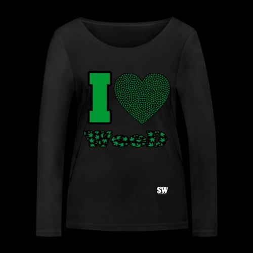 I Love weed - T-shirt manches longues bio Stanley & Stella Femme