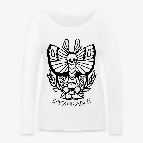 Traditional Tattoo Moth - Women's Organic Longsleeve Shirt by Stanley & Stella