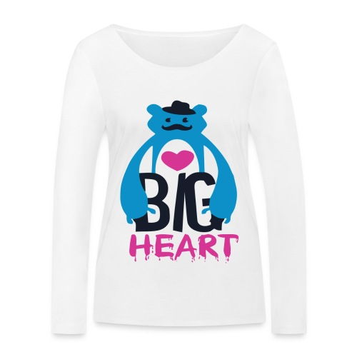 Big Heart Monster Hugs - Women's Organic Longsleeve Shirt by Stanley & Stella