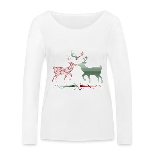 Christmas deer - Women's Organic Longsleeve Shirt by Stanley & Stella