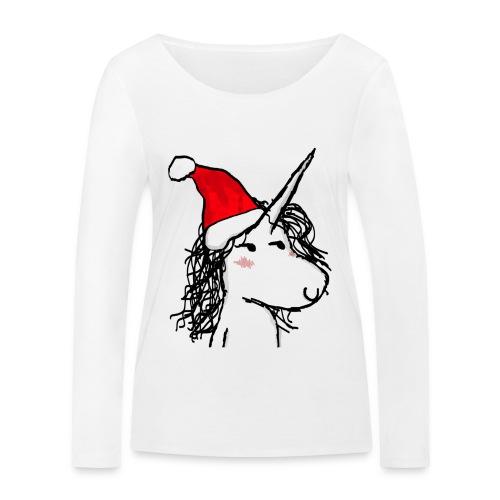 unicorno Natale - Maglietta a manica lunga ecologica da donna di Stanley & Stella
