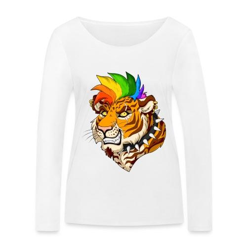 Punk Tiger - Ekologiczna koszulka damska z długim rękawem Stanley & Stella
