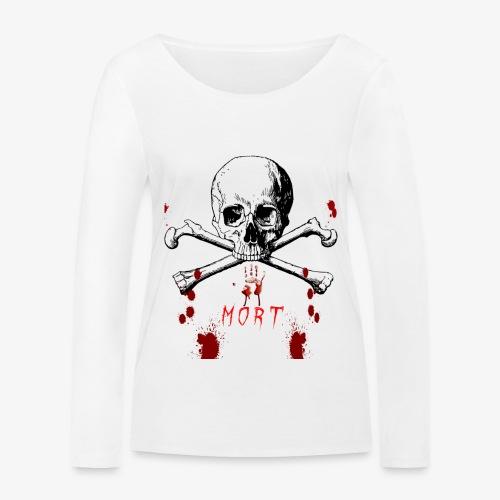 Mort design avec sang - T-shirt manches longues bio Stanley & Stella Femme