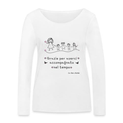 Regalo Maestra Scuola Materna Elementare Asilo - Maglietta a manica lunga ecologica da donna di Stanley & Stella