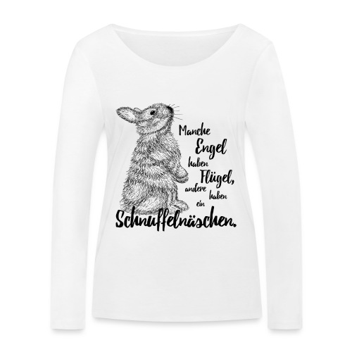 Kaninchen Hasen Zwergkaninchen Engel Liebe - Frauen Bio-Langarmshirt von Stanley & Stella
