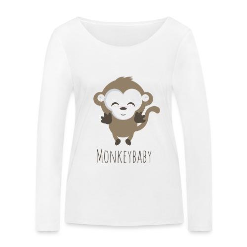 monkeybaby Logo - Frauen Bio-Langarmshirt von Stanley & Stella