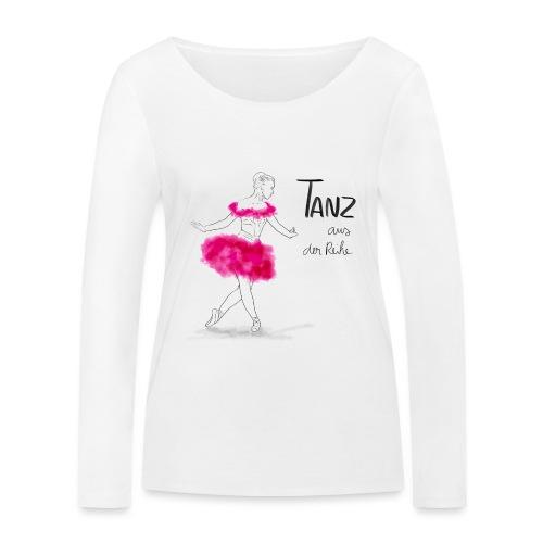 Ballerina mit rosa Tutu - Frauen Bio-Langarmshirt von Stanley & Stella