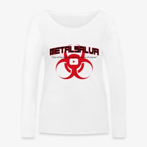 METALSALVA Cancer #1 - Maglietta a manica lunga ecologica da donna di Stanley & Stella