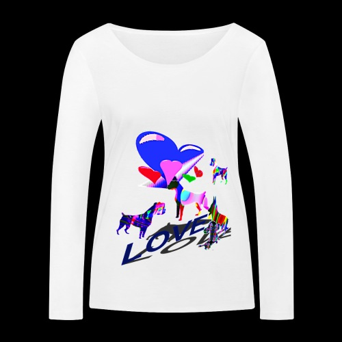 look at these dogs love - T-shirt manches longues bio Stanley & Stella Femme