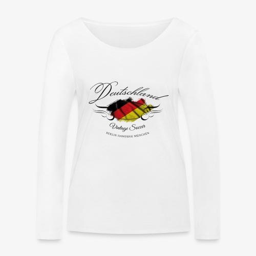 Vintage Deutschland - Frauen Bio-Langarmshirt von Stanley & Stella