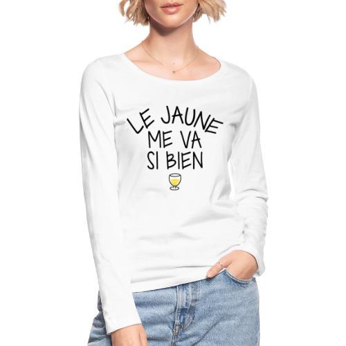 LE JAUNE ME VA SI BIEN - T-shirt manches longues bio Stanley & Stella Femme