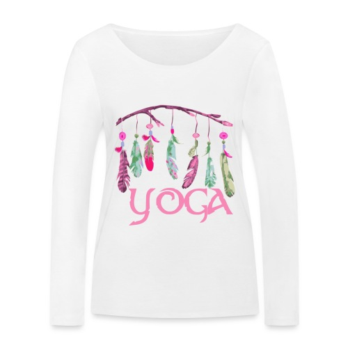 yoga plumes - T-shirt manches longues bio Stanley & Stella Femme