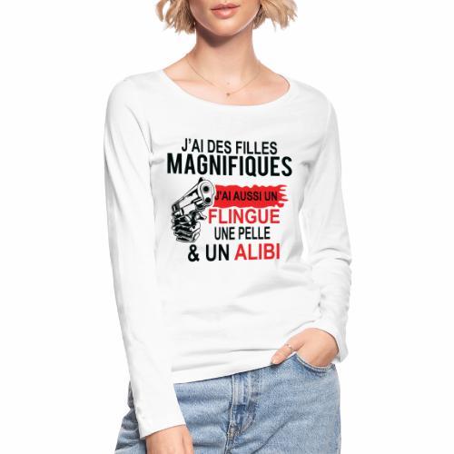 J'AI DEUX FILLES MAGNIFIQUES Best t-shirts 25% - T-shirt manches longues bio Stanley & Stella Femme