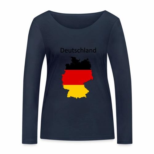Deutschland Karte - Frauen Bio-Langarmshirt von Stanley & Stella