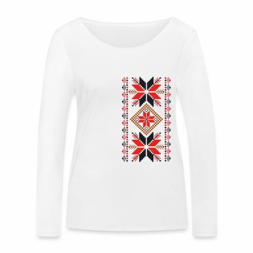 Ornament ludowy - Ekologiczna koszulka damska z długim rękawem Stanley & Stella
