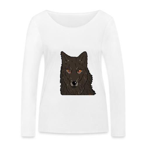 HikingMantis Wolf png - Økologisk Stanley & Stella langærmet T-shirt til damer