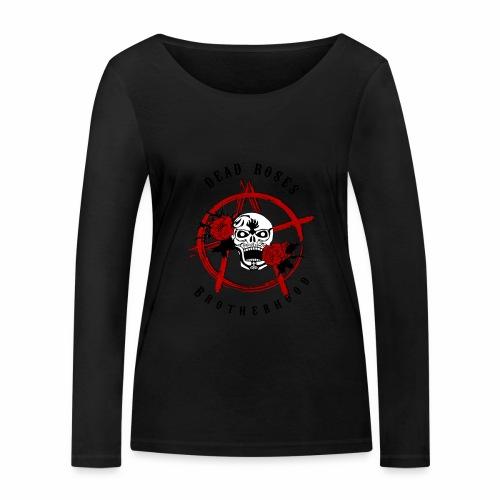 Dead Roses Anarchy Skull Black - Women's Organic Longsleeve Shirt by Stanley & Stella