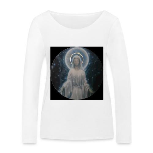 圣母玛利亚 Notre Dame by Jean Libon (Noir) - T-shirt manches longues bio Stanley & Stella Femme