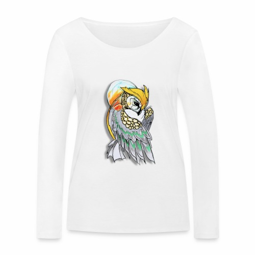 Cosmic owl - Camiseta de manga larga ecológica mujer de Stanley & Stella