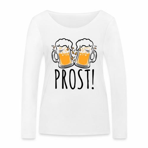 03 Zwei Mass Bier PROST 3c - Frauen Bio-Langarmshirt von Stanley & Stella