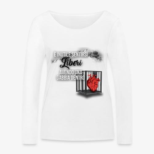 Rap Art ITA BRAND - Maglietta a manica lunga ecologica da donna di Stanley & Stella