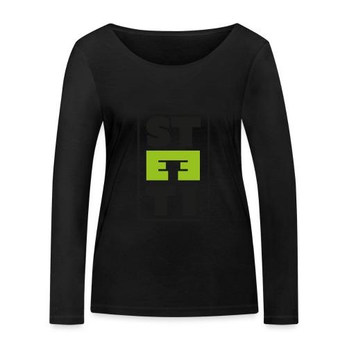 Steeti logo - Ekologisk långärmad T-shirt dam från Stanley & Stella