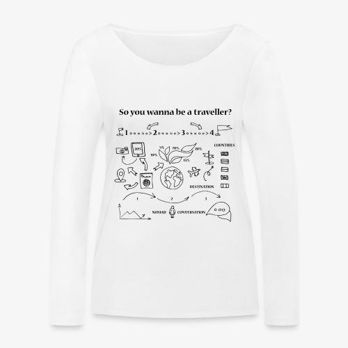 nomad - Women's Organic Longsleeve Shirt by Stanley & Stella
