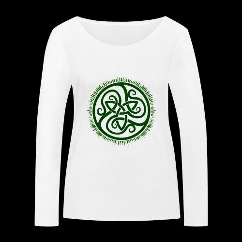 Green Celtic Triknot - Women's Organic Longsleeve Shirt by Stanley & Stella