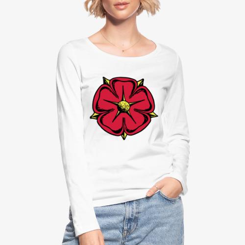 Lippische Rose - Frauen Bio-Langarmshirt von Stanley & Stella