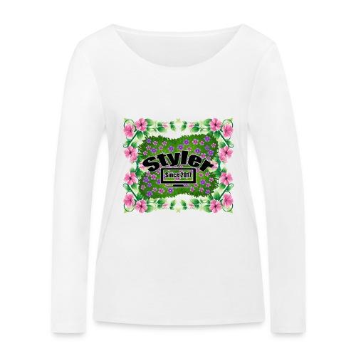 Styler Bloemen Design - Vrouwen bio shirt met lange mouwen van Stanley & Stella