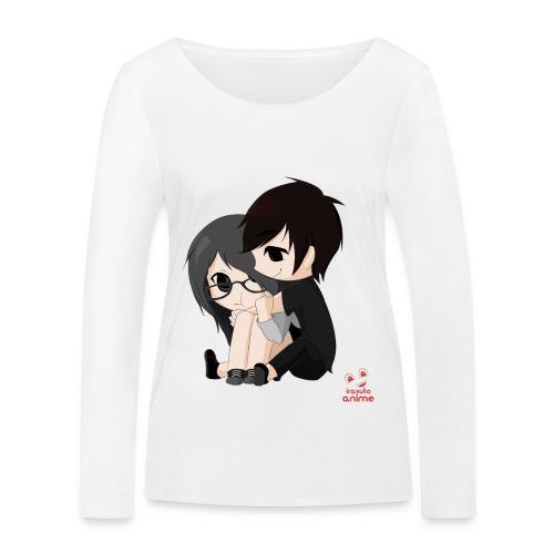 otaku anime pareja chibi kawaii - Camiseta de manga larga ecológica mujer de Stanley & Stella