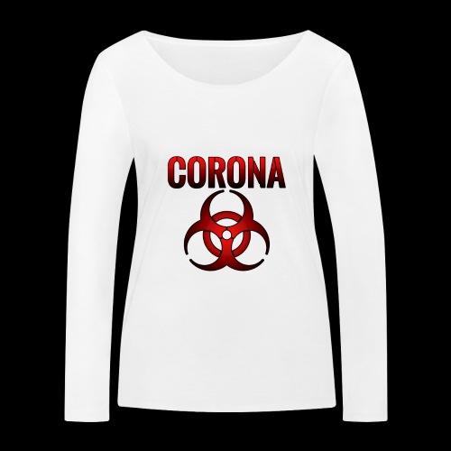 Corona Virus CORONA Pandemie - Frauen Bio-Langarmshirt von Stanley & Stella