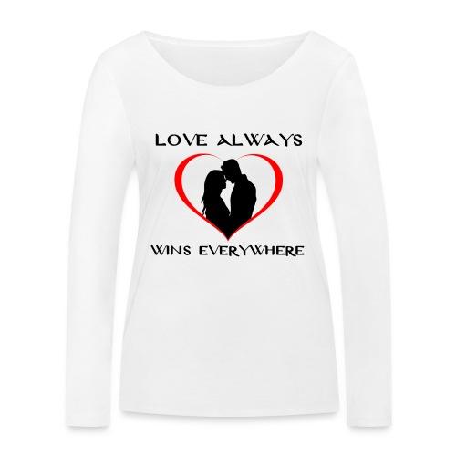 #love - Maglietta a manica lunga ecologica da donna di Stanley & Stella