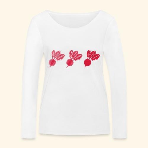 Top rábano - Camiseta de manga larga ecológica mujer de Stanley & Stella