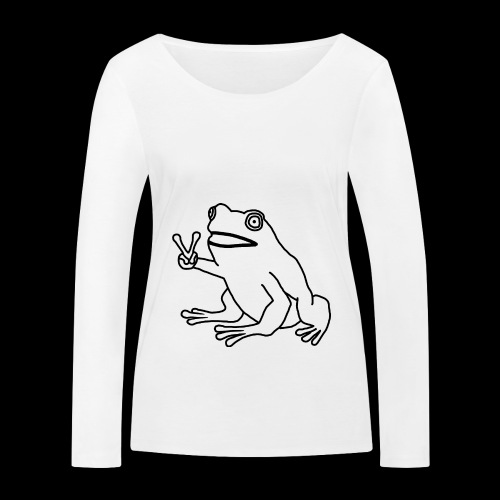 Funny Animal Frog Frosch - Frauen Bio-Langarmshirt von Stanley & Stella