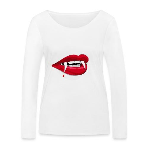 Vampire lips - Frauen Bio-Langarmshirt von Stanley & Stella