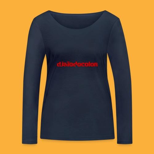 DJATODOCOLOR LOGO ROJO - Camiseta de manga larga ecológica mujer de Stanley & Stella