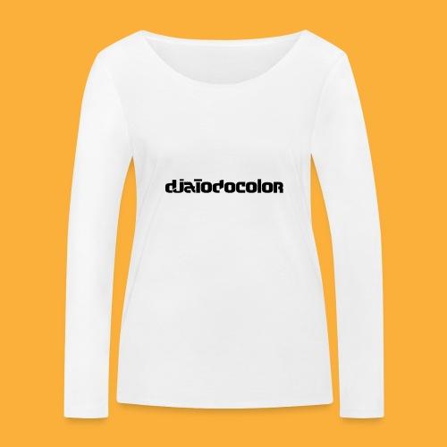 DJATODOCOLOR LOGO NEGRO - Camiseta de manga larga ecológica mujer de Stanley & Stella