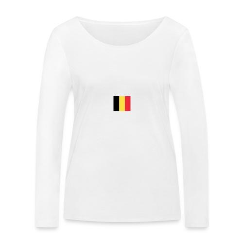 vlag be - Vrouwen bio shirt met lange mouwen van Stanley & Stella