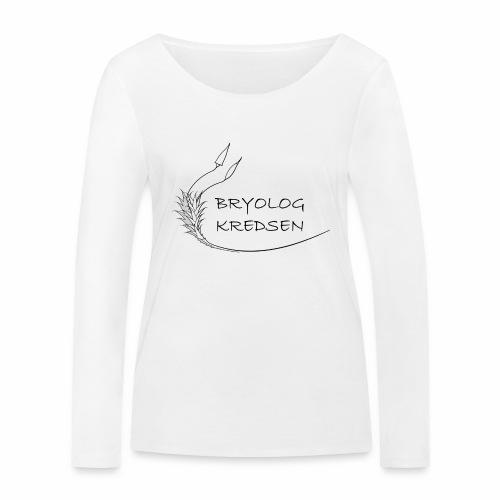Bryologkredsen - sort logo - Økologisk Stanley & Stella langærmet T-shirt til damer