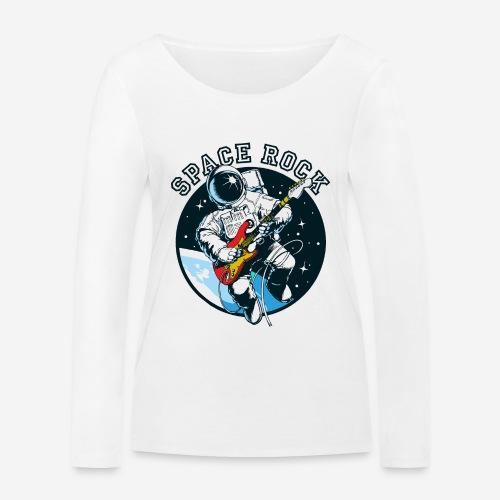 Weltraum-Astronautengestein - Frauen Bio-Langarmshirt von Stanley & Stella